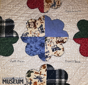 East Family Memory Quilt sample, detail